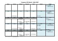 Programm März und April 2009 - FEG March