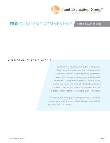 FEG QUARTERLY COMMENTARY - Fund Evaluation Group, LLC