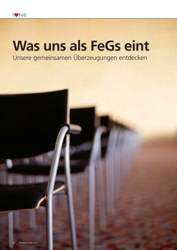 CH Mai 2011 - Bund Freier evangelischer Gemeinden FeG