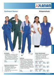 Körperschutz Sortiment Damen - Berufsbekleidung Walter