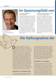Positionslicher im Spannungsfeld von Charismatik und Gemeinde ...