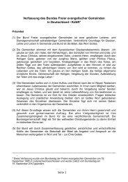 Verfassung des Bundes FeG - Bund Freier evangelischer ...