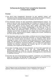 Verfassung - Bund Freier evangelischer Gemeinden FeG
