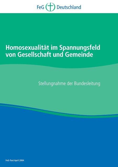 Homosexualität im Spannungsfeld von Gesellschaft und Gemeinde