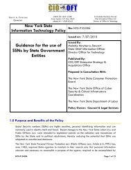 Guidance on Use of Social Security Numbers