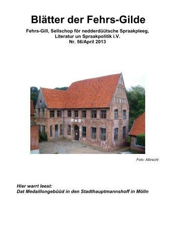 Ausgabe 56 / April 2013 / pdf - Fehrs-Gilde eV