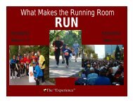 What Makes the Running Room - FEI Canada