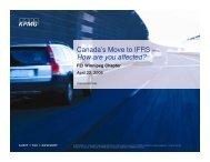 IFRS is - FEI Canada