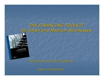 THE FINANCING TOOLKIT for Small and Medium ... - FEI Canada