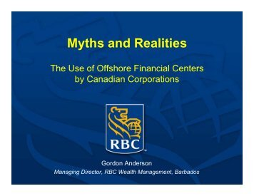Myths and Realities - FEI Canada