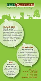 08. Juni - 17:00 11. April - 18:30 NEU - Feinheimisch