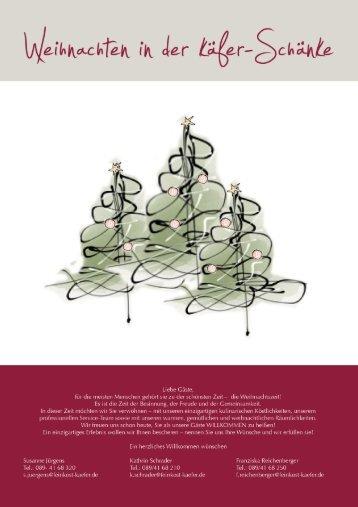Weihnachten in der Käfer-Schänke - Feinkost Käfer
