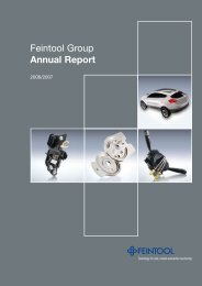Feintool Group Annual Report