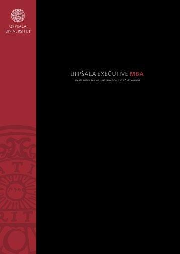 Vår broschyr (pdf) - Företagsekonomiska institutionen - Uppsala ...