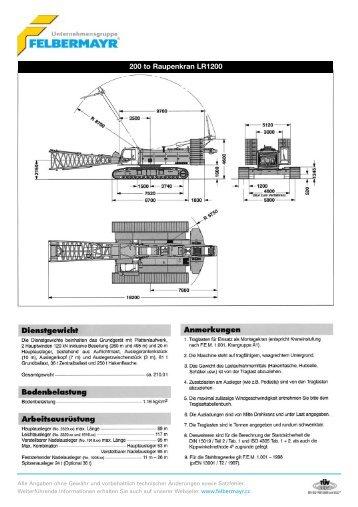 200 to Raupenkran LR1200 - Felbermayr