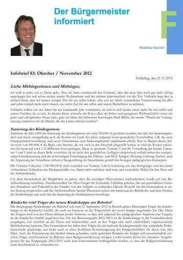 Infobrief 12-11 (November 2012) - Gemeinde Feldafing