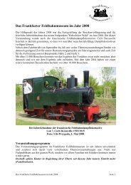 Jahresbericht 2008 - Frankfurter Feldbahnmuseum eV