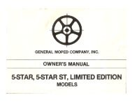 5-STAR, 5-STAR ST, LIMITED EDITION - Project Moped Manual