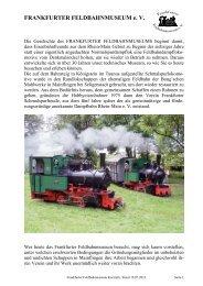 Kurzinformation, deutsch - Frankfurter Feldbahnmuseum eV
