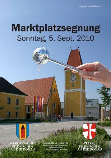 Marktplatzsegnung - Marktgemeinde Feldkirchen an der Donau