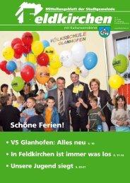Schöne Ferien! - bei der Stadtgemeinde Feldkirchen in Kärnten