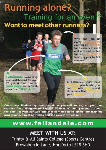 Running alone? Running alone? - Horsforth Fellandale