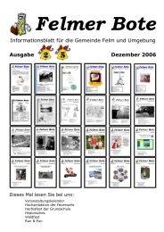 Der komplette Felmer Bote 25 im pdf-Format!