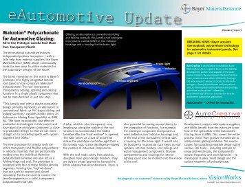 Makrolon® Polycarbonate for Automotive Glazing: