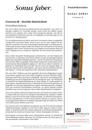 Cremona M - Audio Reference