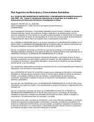 Red Argentina de Municipios y Comunidades ... - Femeba Salud