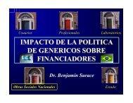 Impacto de la Política sobre financiadores. Dr. SURACE ... - Femeba