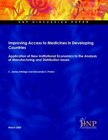 Improving Access to Medicines in Developing Countries