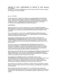 SUPERINTENDENCIA DE SERVICIOS DE SALUD ... - Femeba
