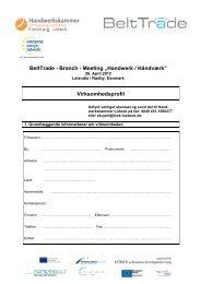 Virksomhedsprofil BeltTrade MatchMaking Håndværk 26 April 2012