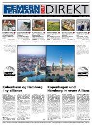 København og Hamborg i ny alliance Kopenhagen und Hamburg in ...