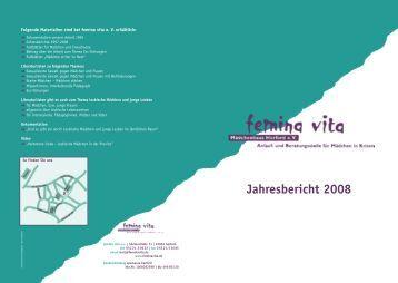Download des Jahresbericht 2008 - femina vita