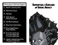 SUPPORTING A S URVIVOR OFS EXUALA SSAULT - Get a Free Blog
