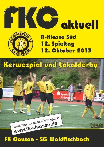 FKC Aktuell - 12. Spieltag - Saison 2013/2014