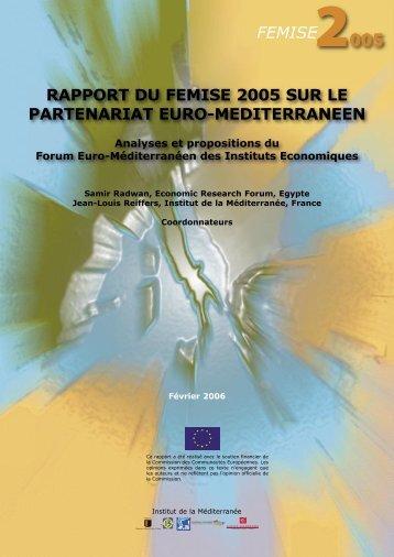 Rapport du FEMISE 2005 sur le partenariat euro-méditerranéen