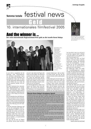 Sonntag, 17. April 2005 - femme totale