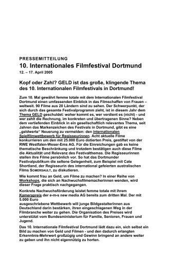 10. Internationales Filmfestival Dortmund - femme totale