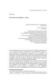 Peter Fuchs Die Funktion der Peinlichkeit ? modern Die ...