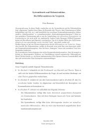 Systemtheorie und Dekonstruktion - Die Differenzlehren im Vergleich