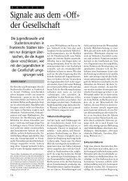 Signale aus dem Off der Gesellschaft - Fen.ch