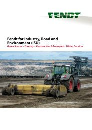 Fendt for Industry, Road and Environment (ISU) - AGCO GmbH