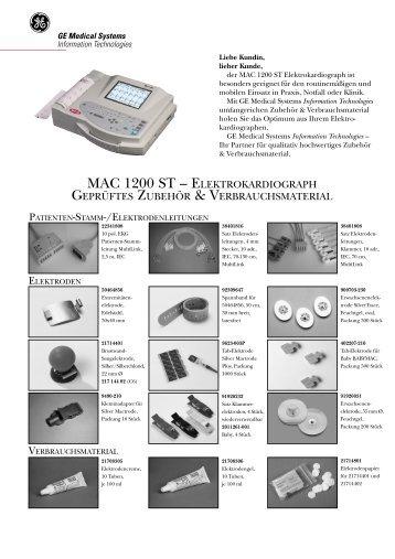 MAC 1200 ST – geprüftes Zubehör & Verbrauchsmaterial