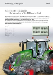 Innovation through passion – the technology of the 800 Vario in detail