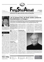 Feng Shui Aktuell 10 Jahrgang Nr 2 / Herbst 2010