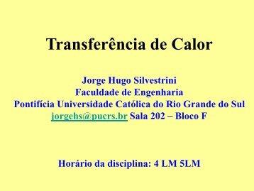 Transferência de Calor - Faculdade de Engenharia - pucrs