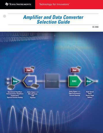 Amplifier and Data Converter Selection Guide - dreamm